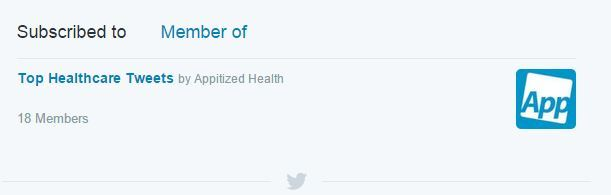 Appitized Health Twitter List
